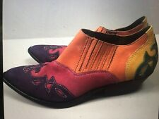 Vintage Ankle Boots Circle S Cowgirl Western Southwestern Ankle Boots Rainbow
