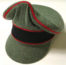 """WWII GERMAN WAFFEN M1938 EARLY WAR WOOL VISOR """"CRUSHER"""" CAP,ARTILLERY-MEDIUM"""