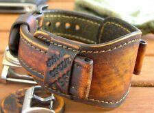20/22mm Brown Watch Bund Strap Genuine Leather Leather's Force wristwatch Band