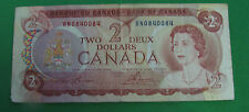 1974 $2  Bank note of Canada repeater BN0 0840084 circulated F+