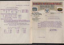 MAGDEBURG, Brief 1922, Holzmacher & Patté Wachsverarbeitungswerke