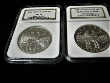 2004-P LEWIS AND CLARK SILVER DOLLAR SET NGC MS70 AND PF70 ULTRA CAMEO EPC #2508