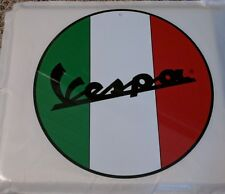 VESPA round circle  metal sign vintage advertising 50023 red green and white