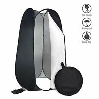 6 FT Portable Privacy Outdoor Pop Up Room Tent Camping Shower Black