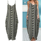 Women's Ladies Boho Summer Beach Evening Party Cocktail Long Maxi Dress XL~