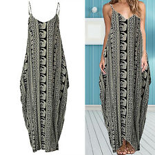 New Women's Ladies Boho Summer Beach Evening Party Cocktail Long Maxi Dress w/