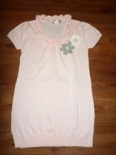 NEW TOKYO FASHION CO PINK/CROCHET FLOWER PINS SWEATER TOP SIZE XS-SMALL