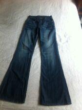 """NEW """"GA BLUE"""" Stretch Jeans 26 Boot Cut 33 inseam Distressed (E1-1.9)"""