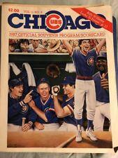 Chicago Cubs 1987 Official Program Scorecard Book Vol 6 #4 Billy Williams