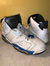 Nike Jordan Retro 6 Sport Blue Grade School Size 7Y 384665 107