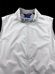 Peter Millar Crown Crafted Stealth Light Insulated Vest Gale Gray L XL 2XL $268
