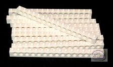 LEGO Technic - 10 x Tech Brick - 16L - White - New - (NXT, EV3, Robot)