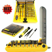 45 Multi Small Precision Hex Torx Star Mini Screwdriver Set Bits Repair Tool Kit
