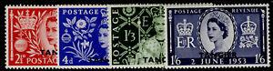 MOROCCO AGENCIES QEII SG306-309, 1953 CORONATION set, M MINT.