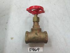 """Milwaukee 3/4"""" Brass Globe Valve Fig# 502 125 SWP 200 WOG 3/4"""" FNPT (New)"""