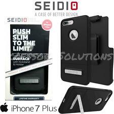 Seidio Apple iPhone 7 Plus / iPhone 8 PLUS SURFACE COMBO Case W/ Belt-Clip Black