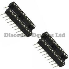 2x DIL-20/DIP20 Quality Precision/Turned PIN Open Frame PCB 20 Way IC Socket 3#