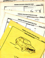 THRU 1974 HONDA CIVIC HATCHBACK SEDAN ORIGINAL BODY PARTS LIST CRASH SHEETS  MF2