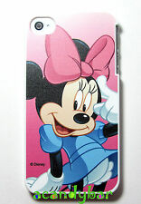 For iPhone 4 4S Disney Minnie Mouse Pink Ribbon bow Doll Cover Case Holiday Gift