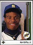 1989 Star Griffey Jr. Ken Griffey Seattle Mariners #1 Baseball Card