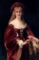 Excellent Oil painting noblewoman portrait Patrician of Venice canvas