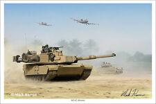 """M1A2 Abrams"" Mark Karvon Giclee Print"