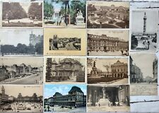 Brussels Bruxelles Brussel - 14 vintage antique postcards posted and stamped