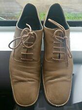 JIL SANDER Camel Colored Brogue Flat Shoes Sz 38