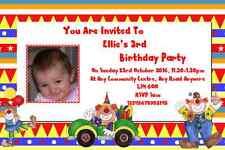 20 INVITI Compleanno personalizzati Clown ~ invitare qualsiasi età