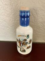 """Collectible Souvenir Pottery Bottle with Cork Madrid Spain  6"""" Tall"""