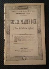 ENGLISH READING BOOK LIBRO DI LETTURA INGLESE FINE '800 N. 168