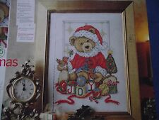 JOAN ELLIOTT'S ADORABLE LITTLE CHRISTMAS TEDDY BEAR SAMPLER  CROSS STITCH CHART