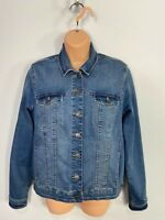WOMENS NEXT SIZE UK 14 MEDIUM BLUE WASH BUTTON UP CASUAL DENIM JEAN JACKET COAT