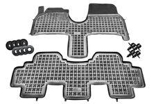 Gummimatten Gummifußmatten schwarz 4-teilig PEUGEOT 807 CITROEN C8 FIAT LANCIA