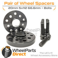 Wheel Spacers (2) & Bolts 20mm for Audi A4 [B9] 15-20 On Original Wheels
