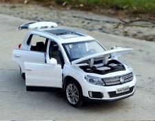 Volkswagen Tiguan SUV 1:32 Diecast Model Car Toy Collection Sound&Light White