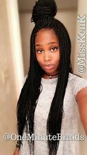 Fully braided lace wig. SMALL box braids wig. Long. Black. PROFESSIONAL