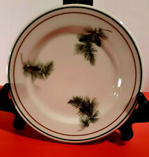 """SYRACUSE CHINA PINE CONE PATTERN  Bread or Dessert Plate (5 1/2"""") White"""