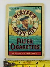 Single Playing Card Old Cigarettes Tobacco Player's Please Navy Cut Advertising