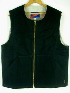 BEST MADE CO. Wool Lined Cotton 100% Vest Lumberlander USA Sz L