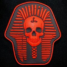 DEATH SKULL SKELETON KING 3D PVC RUBBER BLACK OPS RED US USA VELCRO® BRAND PATCH
