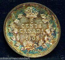 CANADA - FIVE Cents - 1903 -  King Edward -Beautiful Toning