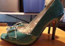 """Wild Rose monet heels irredecent blueish green size 7 with 4"""" heel"""