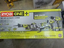 Brand New Sealed Ryobi (P884) - 18V Li-Ion (6-Tool) Ultimate Combo Kit