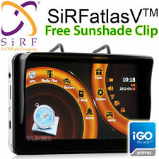 "5"" GPS HD Car Navigation System SiRF atlas V Sat Nav Portable Tunez iGO Primo OZ"