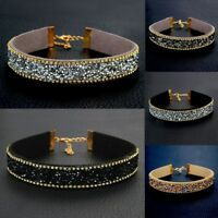 Women Rhinestone Crystal Diamond Choker Collar Bridal Necklace Wedding Jewelry