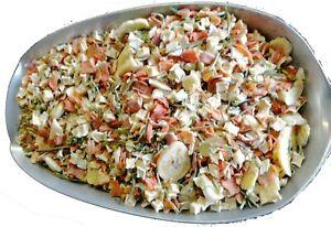 Barf Gemüsemischung, Hundefutter getreidefrei,  Obst-Gemüseflocken zu Fleisch