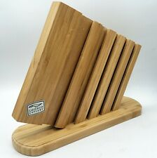 Chicago Cutlery Wood Space Saving Slim Counter Knife Block Display 6 Slot