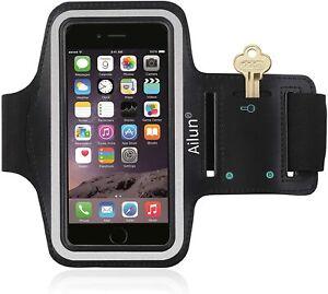 "6.5"" Reflective Water Resistant Sports Armband Phone/Key Holder - NEW - UK STOCK"