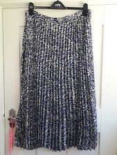 BNWT M&S Ladies Size 16 Long Purple Mix Floral Pleated Midi Skirt Fully Lined
